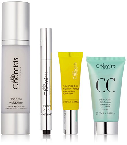 skin Chemists Perfect Finish Touch Set - light: Perfect Skin CC Cream - light, Feuchtigkeitscreme mit Plazenta, Augen-Abdeckstift and Advanced Lip Nutrition Repair, 80 ml