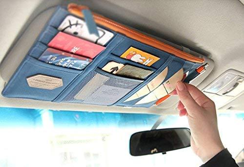 Auto parasol funda coche organizador de CD Funda Bolsa Multifuncional para Teléfono...