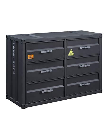 Acme Furniture Cargo Dresser, Gunmetal Finish