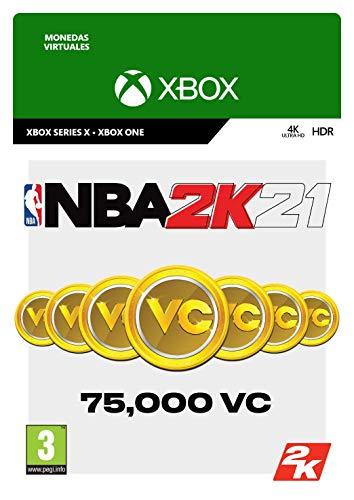 NBA 2K21: 75,000 VC   Xbox One - Código de descarga