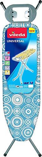 soporte resitente para plancha Vileda Universal peque/ña y estable Tabla de planchar plegable medidas: 132 x 42 cm on altura regulable color azul