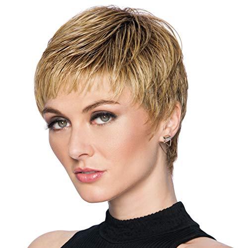 Textured Cut Wig Color R11S+ GLAZED MOCHA - Hairdo Wigs Short Feathered Modern Tru2Life Heat Friendly Synthetic Wispy Bang