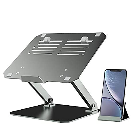 45%OFF  Aluminum laptop stand with phone holder ☑  With Code $19.79