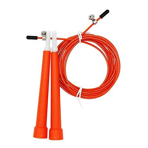 SXXYTCWL Stahldraht-Skipping überspringen Einstellbare Fitness Springseil, Länge: 3m (Megenta) (Farbe: Orange) jianyou (Color : Orange)