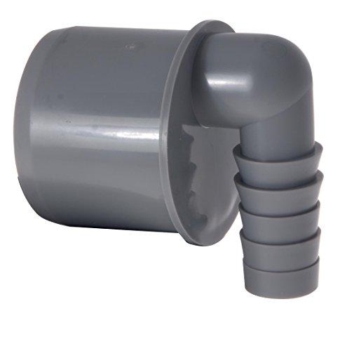 Airfit GmbH & Co. KG Schlauchnippel, 90° gewinkelt DN 50 für Schlauch von Ø 19 bis 21 mm, KS-grau