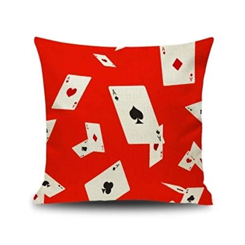 AnnQing Neujahr, Glück und EIN festliches Win-Win-Kissen, wenn Sie Spielen, das blühende Tian Hu Mahjong Taillenpolster-Kissenkissen-E