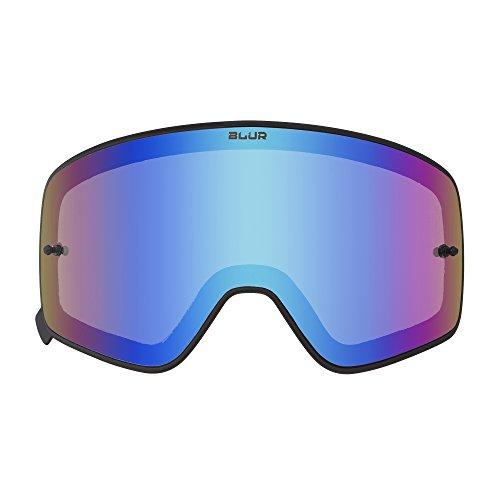 O'NEAL   Motocross-Brillen-Ersatzteile   Motorrad Enduro   Maximale Lichtdurchlässigkeit, mit 100% UV Schutz, mit Blue Blocker-Beschichtung   B-50 Goggle Black Spare Lens   Radium Blau   One Size