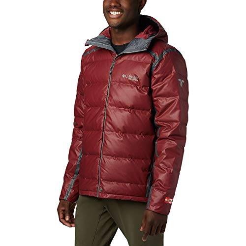 Columbia Outdry Ex Alta Peak Down Jacket - Men's, Red Jasper Heather, Extra Large, 1864131664-XL