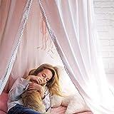 OldPAPA Baby Baldachin Betthimmel für Kinder Bett Hängende Moskitonetz für Schlafzimmer Ankleidezimmer Spiel Lesen Zeit Dekoration für Bett und Schlafzimmer Höhe 240cm(Rosa) - 3