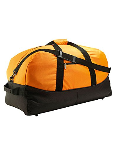 SOL'S Stadium 72 - Sac de voyage style sportswear - Poche frontale zippée - Bandoulière ajustable et amovible - Orange - UNIQUE