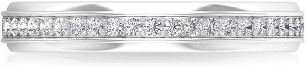 0.23 Carat Pave IGI Certified Diamond Bridal Wedding Ring, Antique Women Birthday Anniversary Stackable Ring, Minimal Daily Wear Promise Matching Band