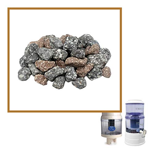 Nikken Aqua Pour Mineral Stones 1386 - Replacement for Gravity Water Filter Purifier System 1360 - Perfect for Reduction of Aesthetic Chlorine and Aesthetic Chloramine - PiMag Waterfall Gravity System