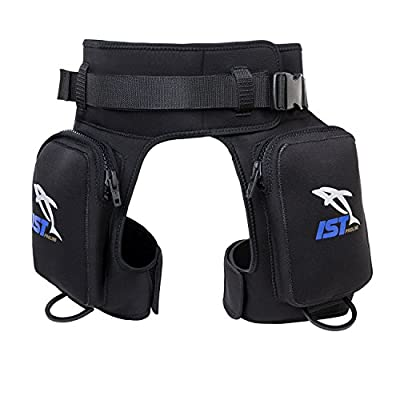 IST DH2 Diver Pocket Thigh Holster with Leg and Belt Straps (Large/X-Large)
