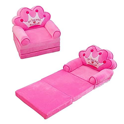 BOBOA Cartoon Kids Sofa Soft Childrens Sofa Bed Children Folding Couch Children Nest Sleeping Sofa Children's Day and Birthday Gift for Girls Boys
