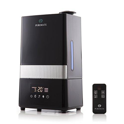 PureMate PM 908 Humidificador Digital Ultrasónico de Vapor Frío e Ionizador Con difusor de aroma - Capacidad de agua de 4.5 litros