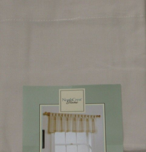 NorthCrest Home Tab Top Ivory Window Valance Aspen Curtain Topper
