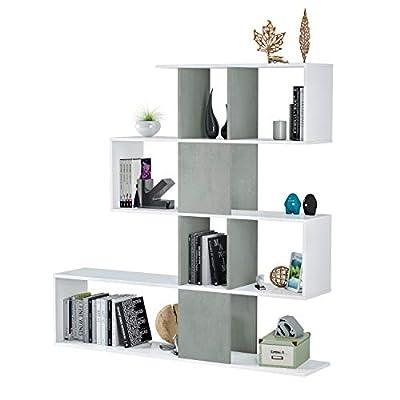 La Estantería / Librería Zig-zag es ideal para almacenar libros, accesorios y documentos tanto en el salón como en la oficina. Dispone de estantes a la vista irregulares ligeramente entre sí, puedes colocar esta estantería tanto en pared como de sepa...