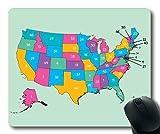 Mapa de la Novedad Alfombrilla de ratón, Este Mapa Muestra el salario Promedio Que Las Personas ganan en Cada Estado x Mapa Alfombrilla de ratón YT 001
