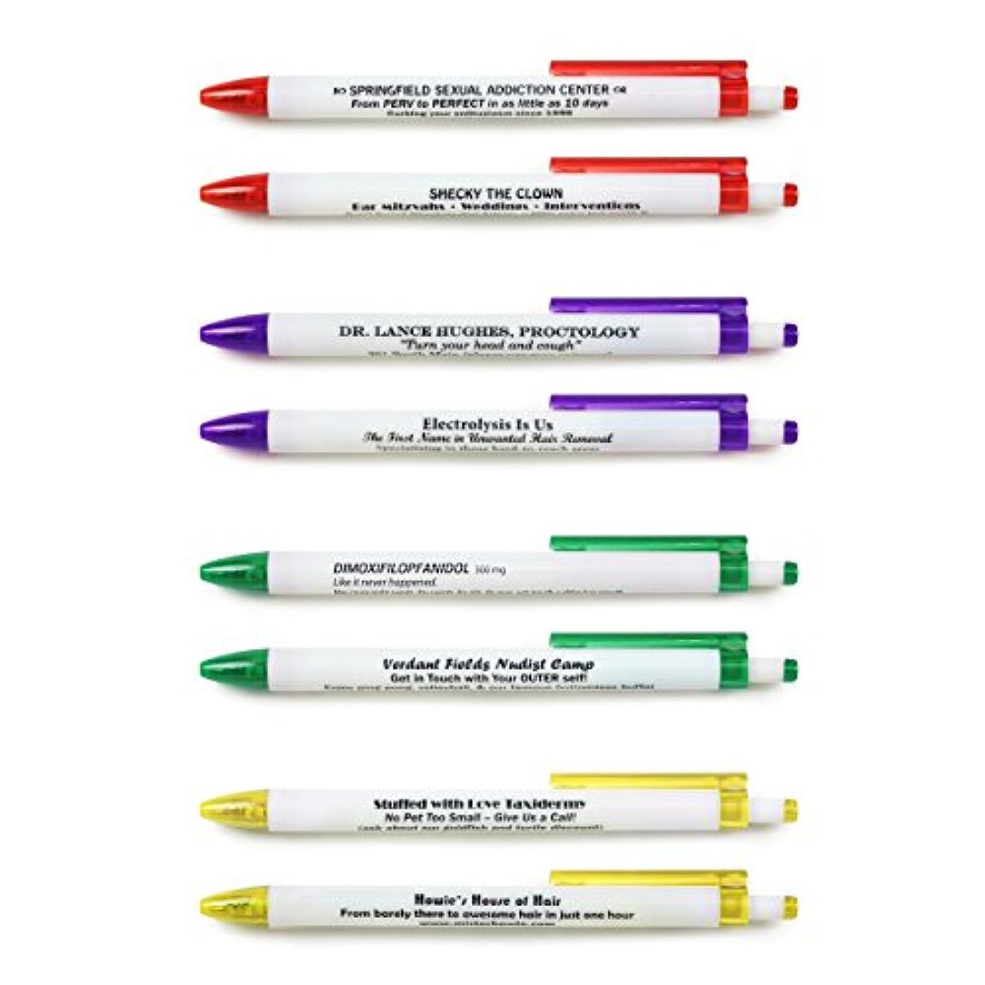 Fred BORROW MY PEN Subversive Pen Set, Set of 8 pde0254775
