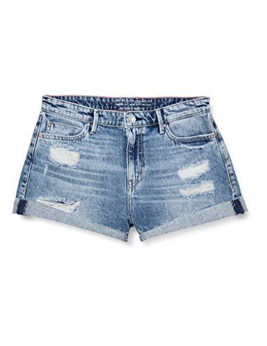 Guess Gemma Pantalones Cortos de Jean, Azul, 29 para Mujer