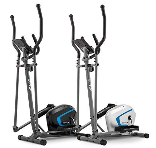 Elitum Vélo elliptique MX300 avec Ordinateur, capteurs d'impulsion Masse inertie 9 kg Argenté/Noir...