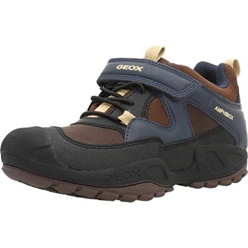 Geox Jungen J New Savage Boy B ABX C Sneaker, Braun Brown Navy C0947, 36 EU