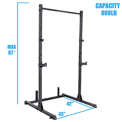 papababe Power Rack Power Cage Workout Station Home Gym for Weightlifting Bodybuilding and Strength Training (800LB Capacity +2 Extra J-Hooks)