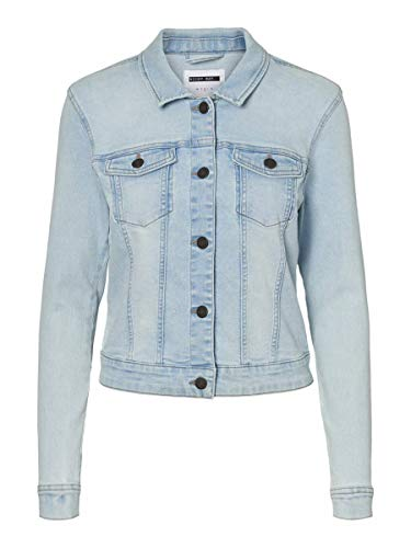Noisy May NOS DE Damen NMDEBRA L/S Jacket LB BG NOOS Jeansjacke, Light Blue Denim, S