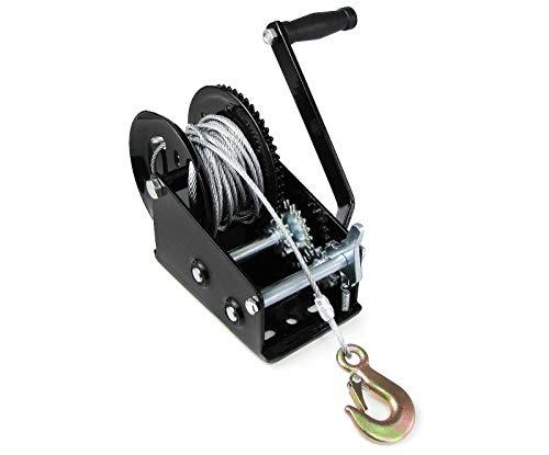 1500 Kg Seilwinde Handwinde Mit Drahtseil Handwinde Bandwinde Bootswinde FüR AnhäNger PKW 10 Meter Hand Band Winch