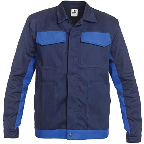BWOLF ARES 100% Baumwolle Arbeitsjacke Männer Arbeitsjacke Herren Arbeitsjacke Bundjacke (Blau, L)