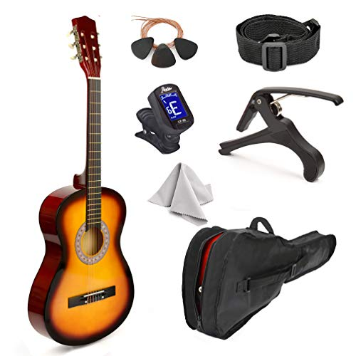 1. 30'' Wood Guitar with Case and Accessories - 1/2 Size