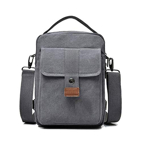 Heren Dual Use Schouder Messenger Bag Vintage Multifunctionele Borstzakken Canvas Reistassen 7.87 * 4.33 * 10.62IN(L*B*H)