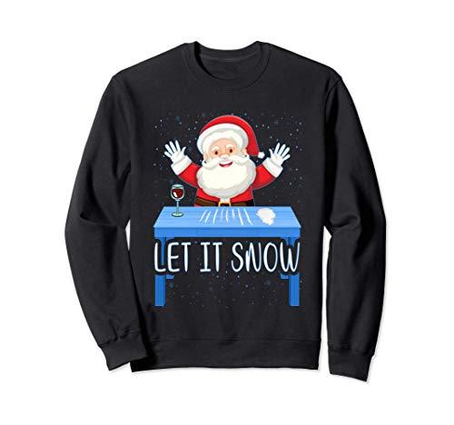 Let It Snow Santa Cocaine Adult Humor Xmas Funny Gag Gifts Felpa