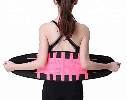 Bonvie Sport Fitness Bauchweggürtel Abnehmen Schwitzgürtel Schlankgürtel Bauchgürtel, Größe:XXL, Farbe:Pink/Schwarz