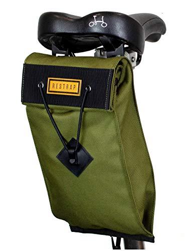 Strap Saddle Bag Satteltasche für Erwachsene, Unisex, Oliv, 2 l