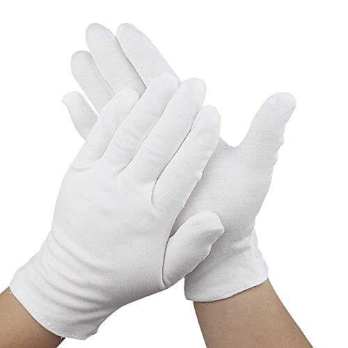 12 pares 9.4 pulgadas guantes hidratantes guantes de algodón cosméticos cosméticos hidratantes mano guantes de spa guante que mejora la humedad