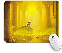 NIESIKKLAマウスパッド 夢のような鹿のおとぎ話の森月光星空のように飛ぶホタル ゲーミング オフィス最適 高級感 おしゃれ 防水 耐久性が良い 滑り止めゴム底 ゲーミングなど適用 用ノートブックコンピュータマウスマット