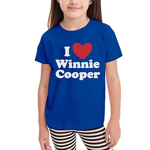 I Love Winnie Cooper Camisetas gráficas para niñas Adolescentes, niños y niñas, Camiseta de Manga Corta, Camisetas de algodón, Camisetas para niños, Tops 2-6t