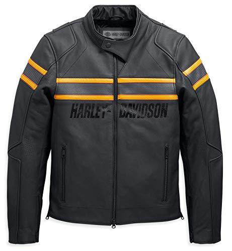 HARLEY-DAVIDSON Herren Lederjacke Sidari Protektorenjacke Motorrad Schutzjacke, XL