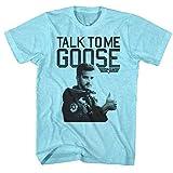 Top Gun 80's Naval Aviator Film Talk to Me Goose Adult T-Shirt Tee