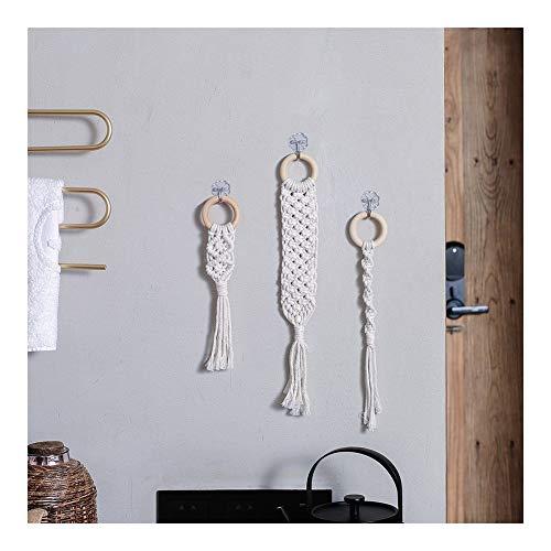 YXZQ Artículos para el hogar 3PCS nórdica Pequeño Dreamcatcher Mini Tapiz Sitio del Dormitorio Macrame Cortina de la decoración del hogar Accesorios Granja decoración Decoración hogareña