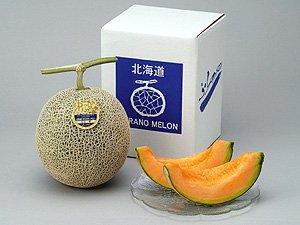 ふらのメロン (秀品 2kg 1玉) 北海道富良野メロン 平均糖度16度のめろん