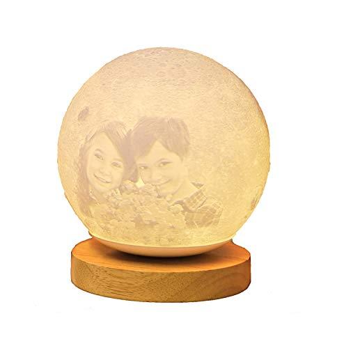 16 Farbe Custom Photo 3D Mond Tischlampe personalisierte Nachtlicht Bett Licht Hochzeitstag Weihnachts für Kinder