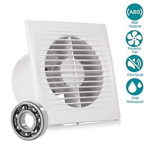 Inline-Lüfter, Hon&Guan Ø150 mm Abluftventilator Ultra-leise mit Effiziente Belüftung, Wand-Ventilator für Küche/Badezimmer/Schlafzimmer/Büro (C-150mm)