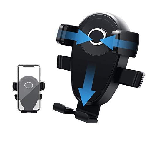TQCS Handyhalterung Auto KFZ Handyhalter fürs Auto Lüftung Kratzschutz 360°Drehbarem Gelenk Universal Kompatibel für iPhone8/7/6 Samsung/Huawei Smartphone (Schwarz)