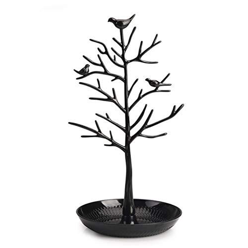Soporte para joyas, 2021, diseño de árbol de pájaros, soporte de joyería a la moda, duradero, elegante, organizador de torre para collar, aretes y joyas