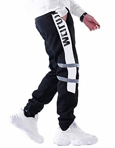 Hello MrLin Herren Joggerhose Joggerhose Bequeme Mode Hip Hop Athletic Workout Hose
