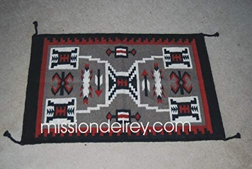 Mission Shipping included Del Rey Southwest Regular discount Wool 24x36 -Navajo Storm Rug Tapestry