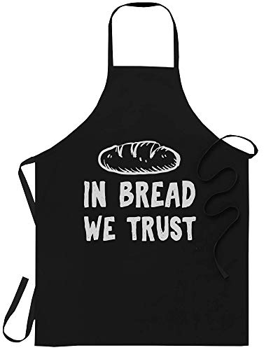 WishState Chef Apron Cooking Kitchen Aprons - Baker in Bread We Trust Pastry Chef Bread Lover Patisserie - One Size fits All for Men Women - Funny Chef Cooking Canvas Poster