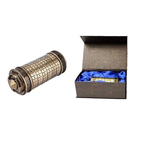 Hztyyier Cerradura de combinación Retro para Código Da Vinci Carta Cryptex Contraseña Anillo de Bloqueo Titular Regalos Día de San Valentín Novia Novio Regalo de cumpleaños
